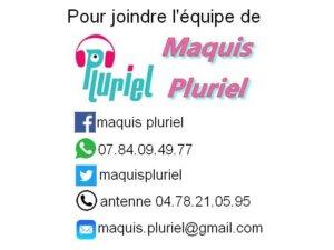 [RADIO] Émission Maquis Pluriel en direct @ Radio Pluriel 91.5FM | Saint-Priest | Auvergne Rhône-Alpes | France