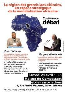 [CONFERENCE] La région des grands lacs africains, un espace stratégique de la mondialisation africaine @ Maison du Combattant et des associations   Saint-Étienne   Auvergne-Rhône-Alpes   France