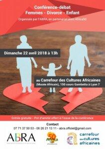 [CONFERENCE] Femmes - Divorce et enfants organisée par l'ABRA @ Carrefour des cultures africaines   Lyon   Auvergne-Rhône-Alpes   France