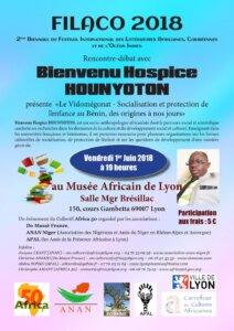[LITTERATURE]  Bienvenu Hospice Hounyoton invité du FILACO @ Carrefour des Cultures Africaines | Lyon | Auvergne-Rhône-Alpes | France