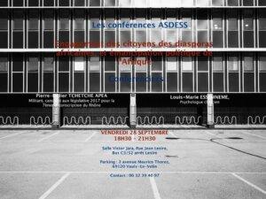 [CONFERENCE] Engagement des citoyens des diasporas africaines et émancipation politique de l'Afrique @  salle Victor Jara | Vaulx-en-Velin | Auvergne-Rhône-Alpes | France
