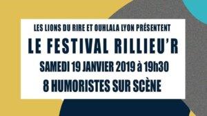[HUMOUR] Les Lions du Rire & Ouhlala Lyon présentent LE FESTIVAL RILLIEU'R #2 @ Mjc o totem