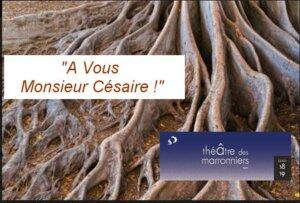 """[THEATRE] """"À vous Monsieur Césaire!"""" d'Aimé Césaire au Théâtre des Marronniers Lyon @ Théâtre des Marronniers"""