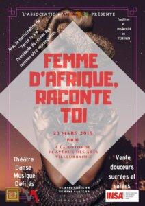 """[SPECTACLE] Kwanza'a INSA Lyon présente """"Femme d'Afrique, raconte toi"""" @ Rotonde de l'Insa"""