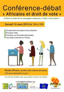 """[VOTER C'EST EXISTER] Conférence-Débat """"Les Afros, le droit de vote et les Européennes"""" @ Carrefour des cultures africaines"""