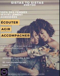 """[ENTRE FEMMES] LRFA présente Sistas to sistas #4 spécial """"Agressiosn sexuelles"""" #metoo @ Espace culturel africain"""
