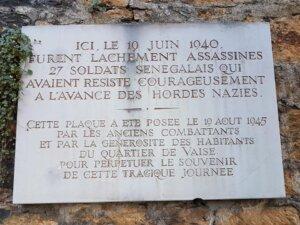 [MEMOIRE] Hommage aux Tirailleurs Africains fusillés par les Nazis à Lyon