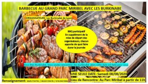 [BURKINA] L'ABL organise son barbecue annuel à Miribel (69) @ Grand Parc Miribel Jonage
