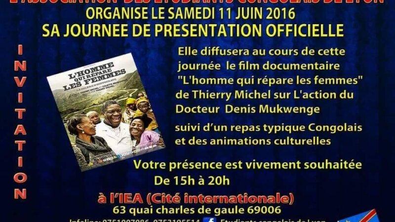 [RDC LYON] Lancement de l'association des Étudiants Congolais de Lyon samedi 11 juin 2016