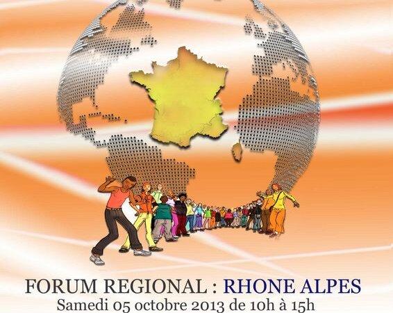 [RENCONTRES] Forum régional Jeunesse et Migration samedi 5 octobre 2013 à Villeurbanne