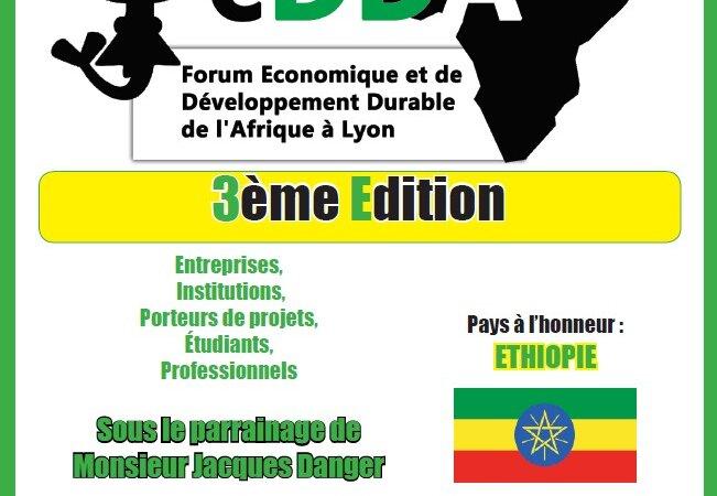 [ÉCONOMIE] 3e édition du FEDDA le 9 novembre 2016 à Lyon avec comme pays à l'honneur l'Éthiopie