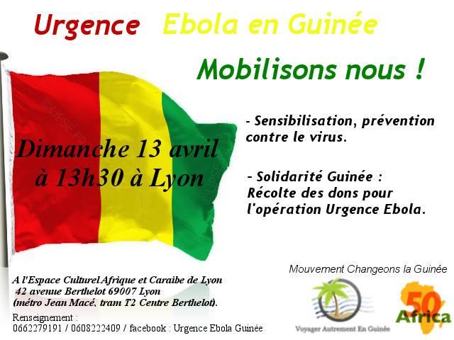 [SOLIDARITE] Récolte de dons à Lyon dimanche 13 avril 2014 pour l'opération urgence Ebola en Guinée