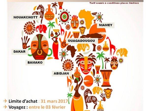 [VOYAGE] Abidjan, Bamako, Dakar, Nouakchott et Niamey à partir de 337 Euros avec Air Algérie