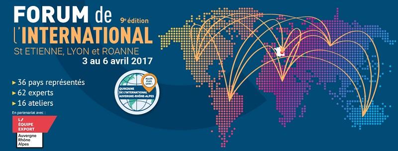 [ECONOMIE]  9ème Forum de l'international du 3 au 6 avril 2017 à Lyon-Roanne et Saint Etienne avec l'Afrique du sud, le Cameroun, la Côte d'Ivoire et le Nigeria