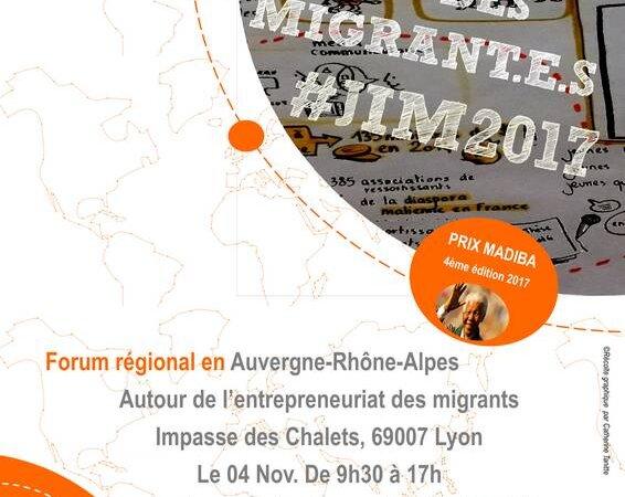[ECONOMIE] Le COSIM  organise le 4 Novembre 2017 à Lyon une journée «autour de l'entrepreneuriat des migrants»