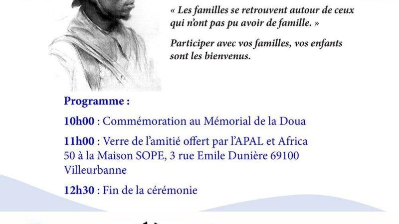 [MEMOIRE] Hommage aux Soldats africains enterrés à La Doua (Villeurbanne) le 1er novembre 2017