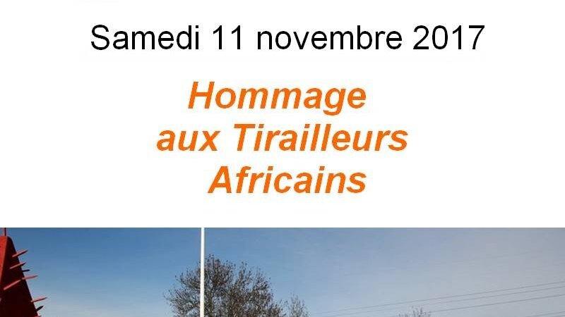 [MEMOIRE] Hommage aux Tirailleurs Africains ce 11 novembre 2017 massacrés par les Allemands en juin 1940 à Chasselay (69)