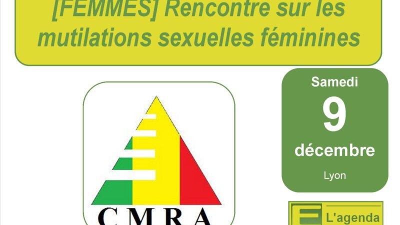 [FEMMES] Rencontre sur les mutilations sexuelles féminines samedi 9 décembre à Lyon organisée par le CMRA