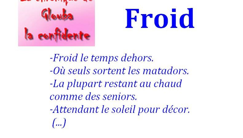 [GLOUBA] Froid