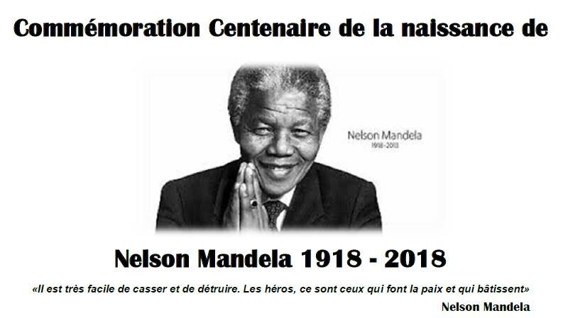 [HOMMAGE] Célébration du Centenaire de la naissance de Nelson Mandela le 18 juillet 2018 à Lyon