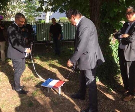 [#10mailyon] Retour en images sur la journée nationale de commémoration de l'abolition de l'esclavage et la plaque dévoilée le 10 mai 2019 à Villeurbanne