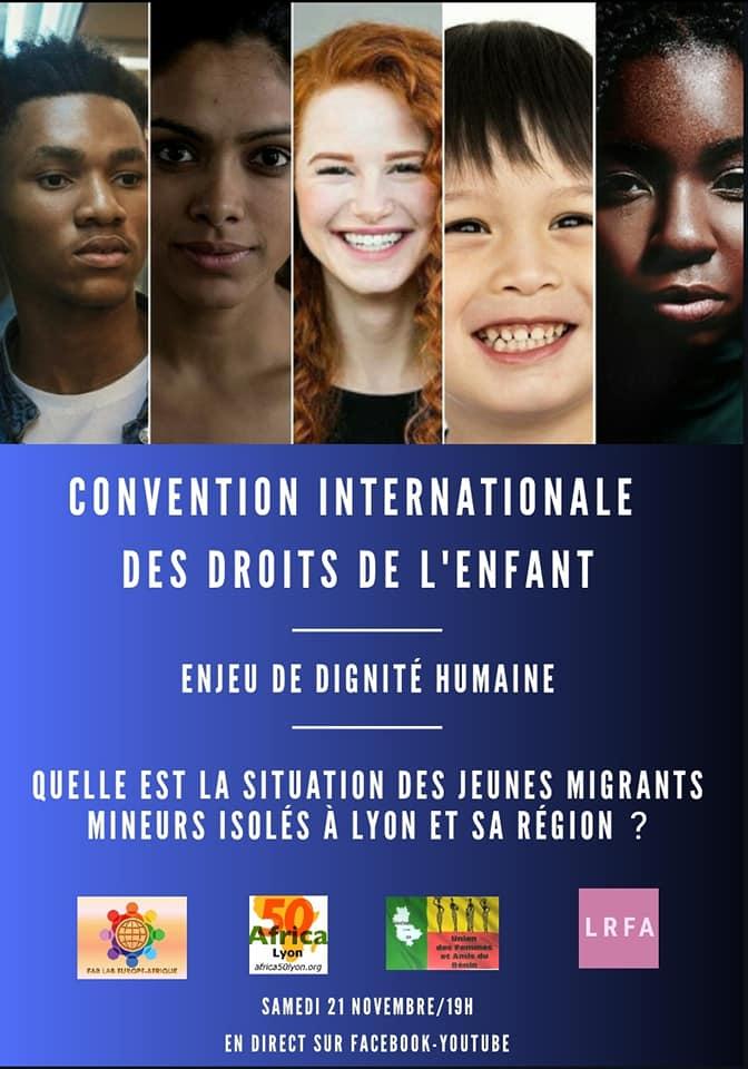 [DROITS DE L'ENFANT] Visio-Conférence «Journée Internationale des droits de l'enfant» – Lyon 2020- Samedi 21 novembre 2020 à 19h