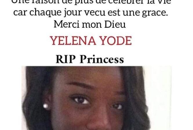 Décès de Yelena YODE le 10 février 2020 à Lyon