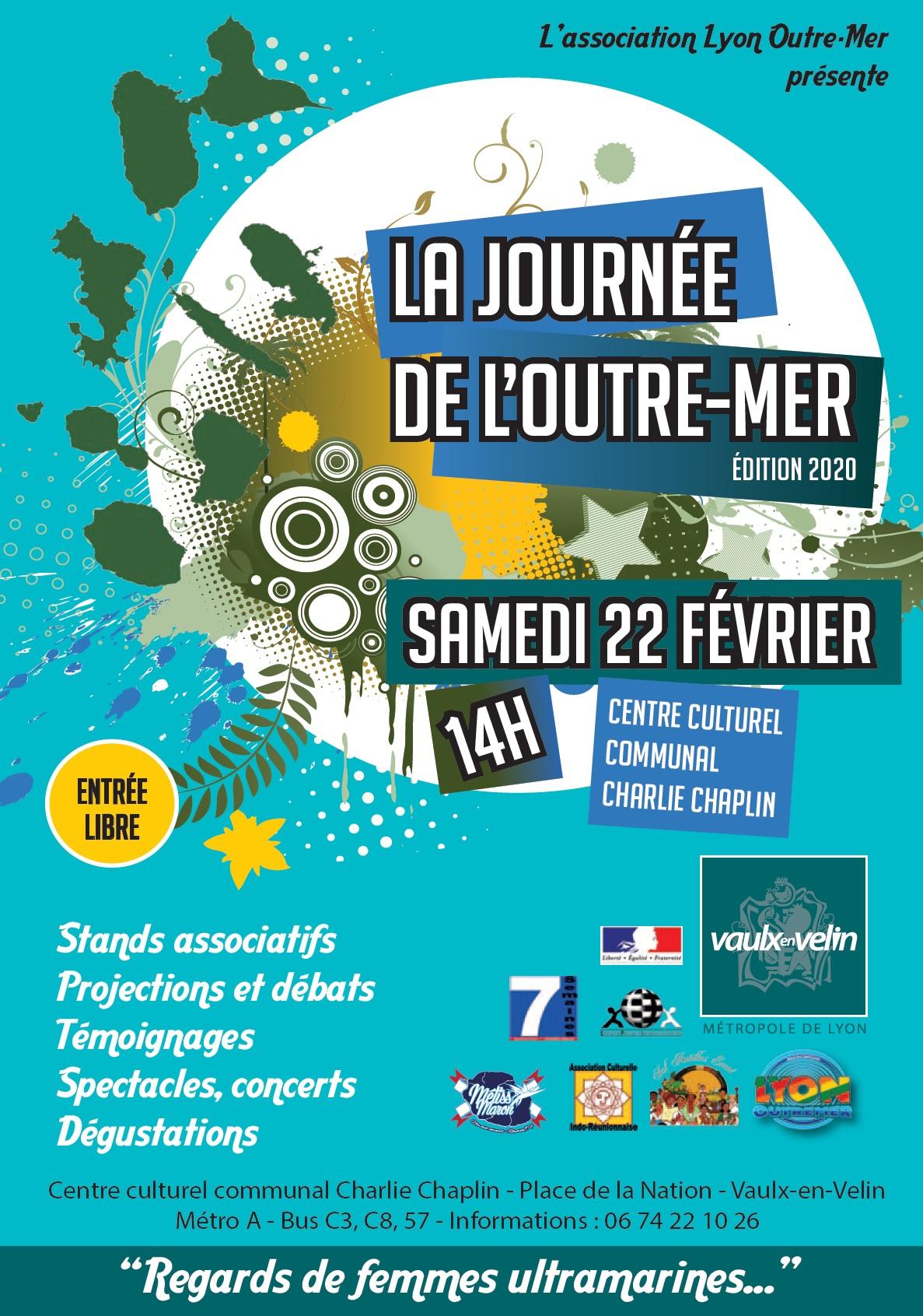 """[OUTRE-MER] La journée de l'Outre-Mer autour de la thématique """"Regards de femmes ultramarines"""" à Vaulx samedi 22 février 2020"""