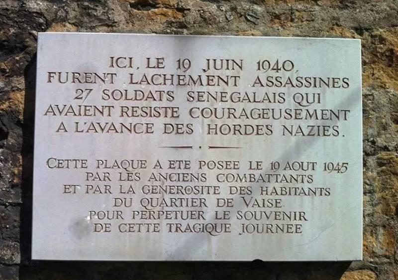 [MEMOIRE] Hommage aux Tirailleurs fusillés par les nazis à la Montée Balmont (Lyon 9e)
