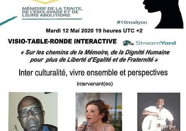"""[L'AUTRE] Visio-conférence mardi 12 mai 2020  """"Inter culturalité, vivre ensemble et perspectives"""" avec N BOU, L ESSEM et Y BALUME"""
