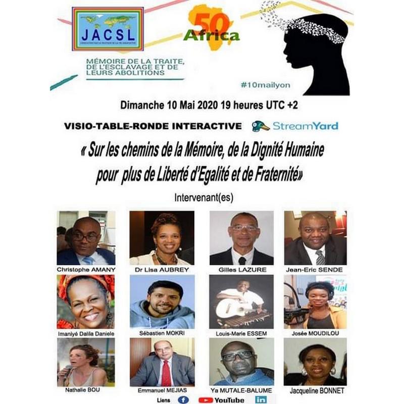 [MEMOIRE] 10 mai 2020 – Journée nationale commémoration de l'abolition de l'esclavage – Visio-conférence avec plusieurs intervenants dont le Dr Lisa AUBREY depuis les USA #10mailyon