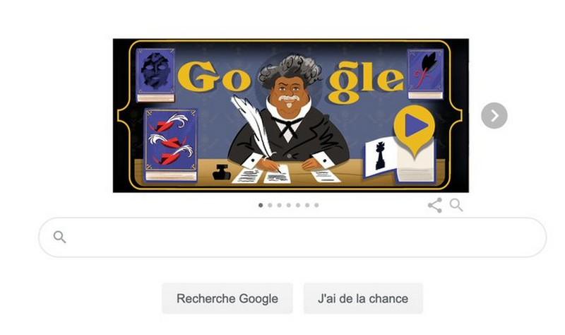 [LITTERATURE] Alexandre Dumas illustré en homme noir sur Google et c'est rare (Huffington Post)