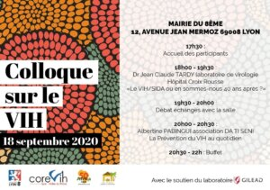 [SANTE] Colloque sur le VIH organisé par l'association DA TI SENI à Lyon 8e @ Mairie Lyon 8e