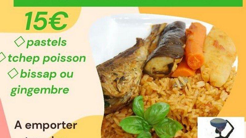 [LA BOX DU WEEK-END] Tous les samedis Tchep poulet ou poisson Yassa poulet, pastels, jus de bissap ou gingembre à emporter à Lyon 7e