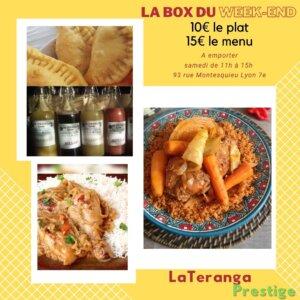 [CUISINE] La box du week-end à emporter, pastels, yassa, tieboudiene, bissap, jus de gingembre @ Espace Culturel Africain