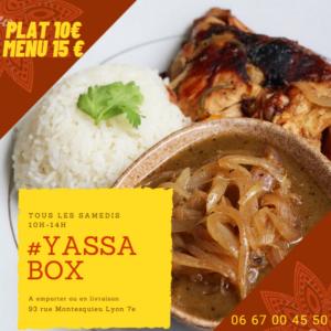 [LA BOX DU WEEK-END] Tchep-poulet ou poisson Yassa poulet, pastels, jus de bissap ou gingembre à emporter @ Espace Culturel Africain