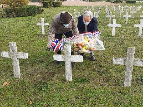 [MEMOIRE) Hommage 2020 aux soldats africains enterrés à la Nécropole de la Doua à Villeurbanne (69) malgré les restrictions (photos et vidéo)