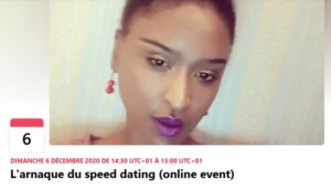 [RENCONTRES] L'arnaque du speed dating (online event) @ Facebook