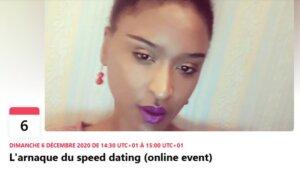 [RENCONTRES] L'arnaque du speed dating (online event) @ Facebook