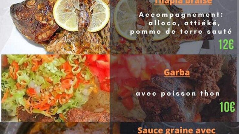 [CUISINE] O Dabali commandez et emportez des spécialités ivoiriennes garba, tilapia braisé etsauce graine avec djoumblé