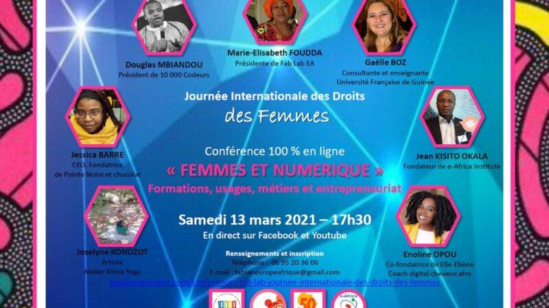 [JIDF 2021] Table-ronde « Femmes et numérique : formations, usages, métiers et entrepreneuriat » Samedi 13 mars à 17h30 en visio