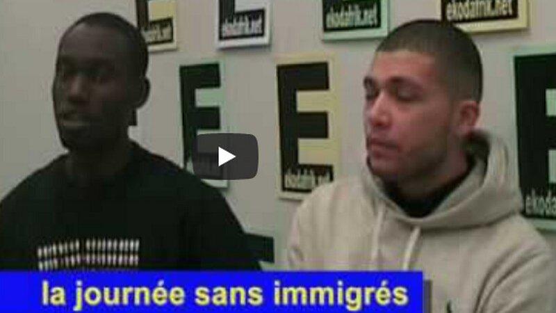 [VIDEO SOUVENIR] La journée sans immigrés se prépare à Lyon (21 février 2010)