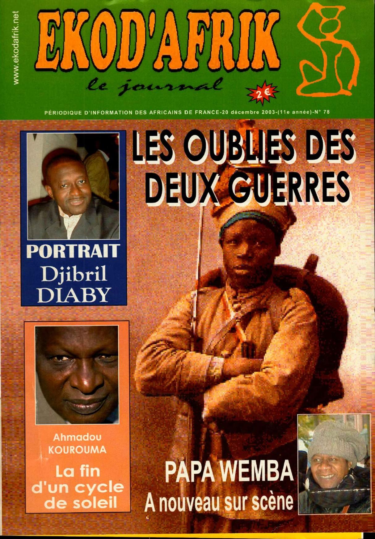[ARCHIVES] «Les oubliés des deux guerres» Ekodafrik n°78 du 20 décembre 2003