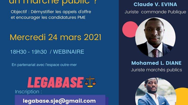 [ECONOMIE] «Comment répondre aux marchés publics ?» Webinaire mercredi 24 mars 2021 à 18h30