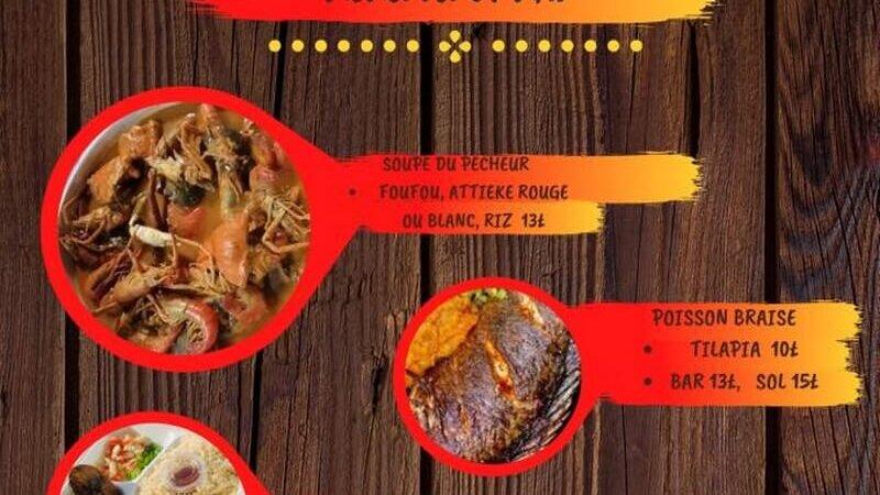 [CUISINE] OYofe commandez et emportez des spécialités ivoiriennes soupe de pêcheur, garba ou poisson braisé dimanche 9 mai