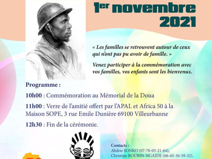 [MEMOIRE] Hommage aux Soldats africains enterrés à La Doua (Villeurbanne) le 1er novembre 2021